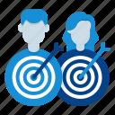 aim, target, goal, marketing, strategy, team, targeted