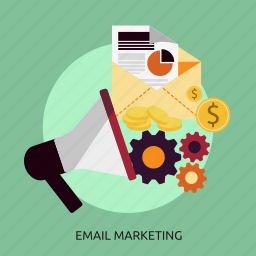 business, concept, email, marketing, vision icon