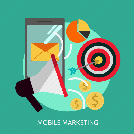 business, marketing, mobile, online, target icon