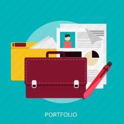 business, concept, marketing, portfolio, success icon