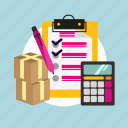 business, data, list, marketing, product, stock icon