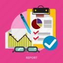 analysis, business, innovation, marketing, profit, report icon
