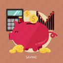 business, investment, marketing, profit, saving, stock icon