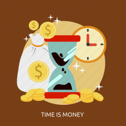business, is money, marketing, time icon
