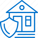 family, house, insurance, protection, safety, secure, shield icon