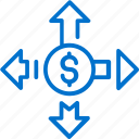 administration, business, capital, finance, management, money, strategy icon