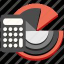 calculation, calculator, chart, finance, marketing, math, report
