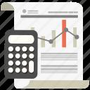 budget, business, calculator, diagram, marketing, money, report icon