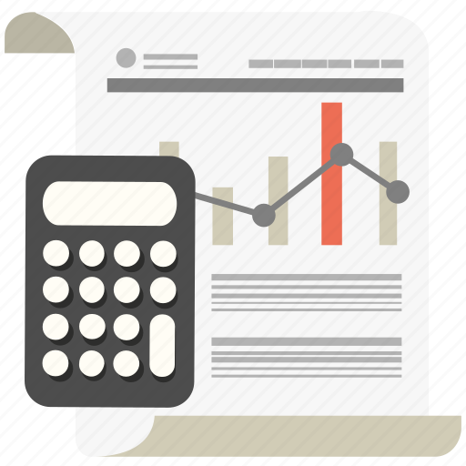 budget, business, calculator, diagram, marketing, money, report icon