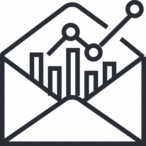 analysis, business, email, marketing, newsletter, pixel icon, thin line icon