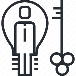business, idea, key, marketing, pixel icon, startup, thin line icon
