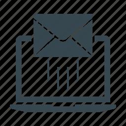 e-mail, e-mail marketing, emailer, envelope, laptop, mail, marketing icon