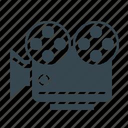 camera, cinema, film, movie, video, video marketing icon