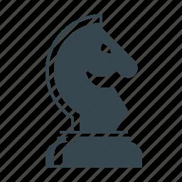 business, chess, chessman, figure, horse, marketing, strategy icon