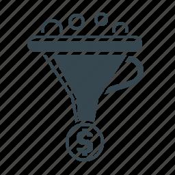 business, conversion, finance, funnel, marketing, optimization icon