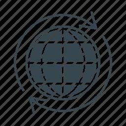 business, earth, global, globe, marketing, web, world icon
