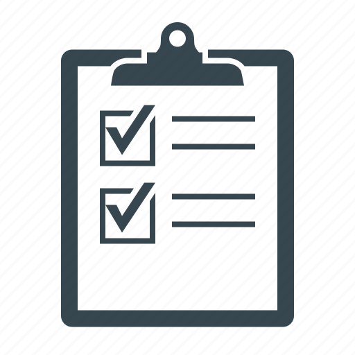 checklist, document, form, page, questionnaire, test icon