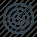 \, arrow, business, goal, marketing, target, targeting icon