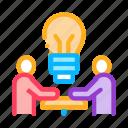 brain, businessman, conference, outlie, problem, seminar, solving