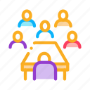 business, businessman, conference, meeting, outlie, partnership, seminar icon