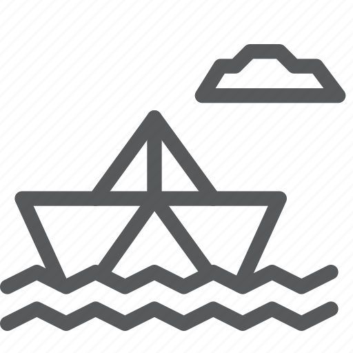 boat, business, float, metaphors, paper, sea, transport, vehicle icon