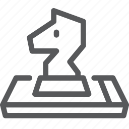 app, business, chess, horse, mobile, phone, piece, smartphone icon