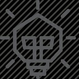 bulb, business, energy, fresh, idea, light, startup icon