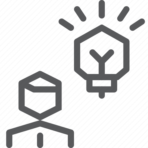 bulb, business, fresh, idea, light, startup, user icon