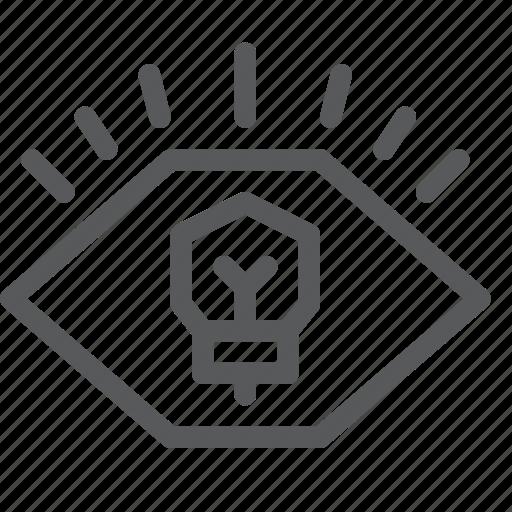 bulb, business, eye, fresh, idea, light, startup, view icon