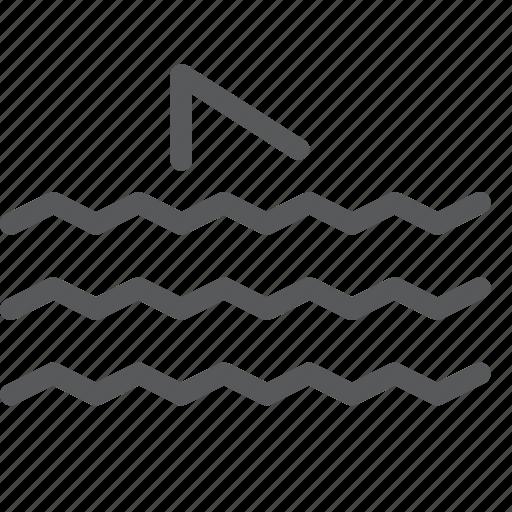 animal, business, danger, ocean, sea, shark, water icon