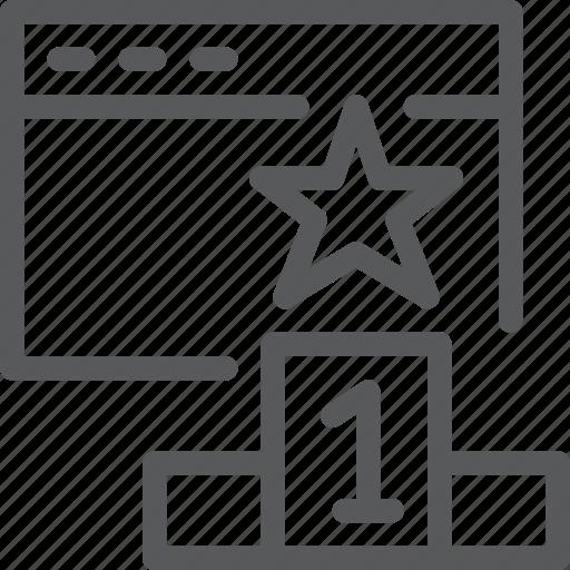 achievement, app, business, goal, rank, star, terminal, window icon