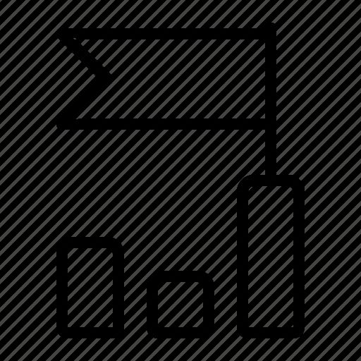 aim, chart, goal, graph icon