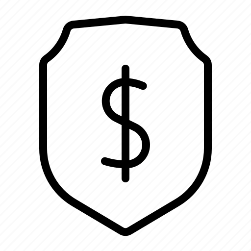 deposit, protection, security, shield icon