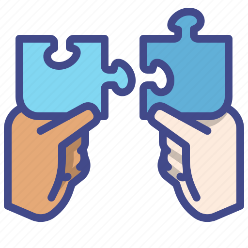 Hand, network, partner, puzzle icon - Download on Iconfinder