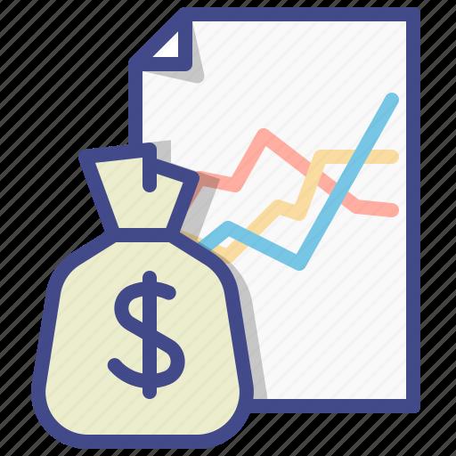 graph, money, revenue, streams icon