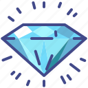 diamond, gem, propositions, value icon