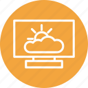 cloud, computer, computing, screen, weather icon