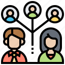 abilities, communication, group, meeting, team icon