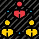 business, communication, group, level, network, organization, social icon