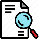 analytic, business, document, magnet, paper, report, sheet icon