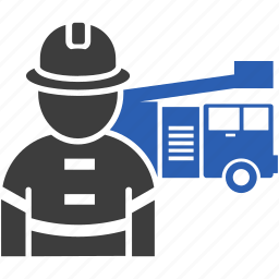 department, fighter, fire, firetruck icon