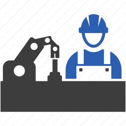 industry, manufacturing, worker, workers icon