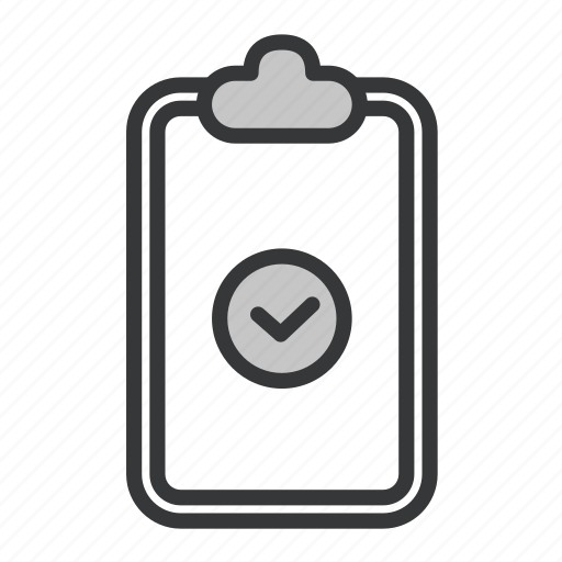 business, clipboard, office, verify icon