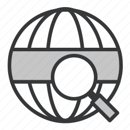 business, globe, office, search icon