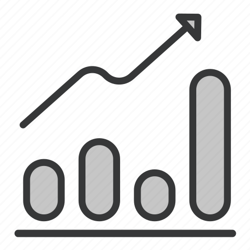 bar, business, graph, office icon