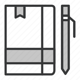 business, journal, notebook, office icon
