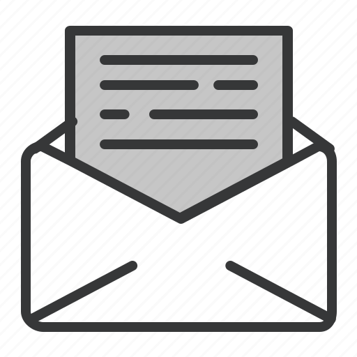 business, letter, mail, office icon