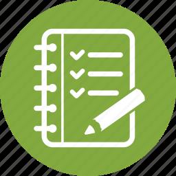checklist, tasks, to do list icon
