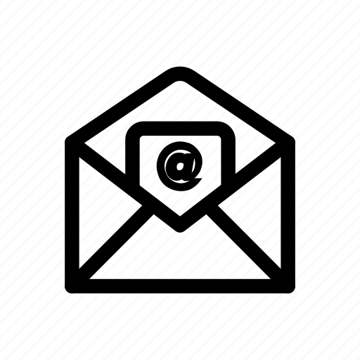 at, communication, email, envelope, mail, send, sign icon icon