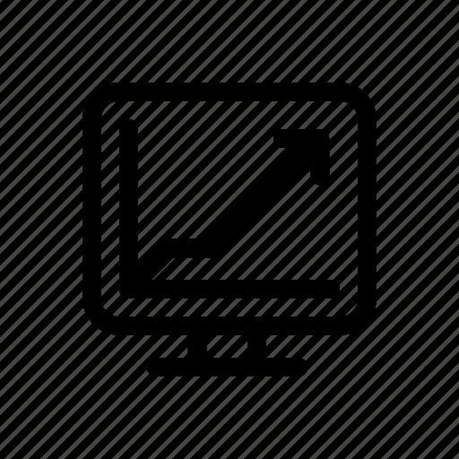 analysis, chart, graph, growth, pie, statistics, web icon icon